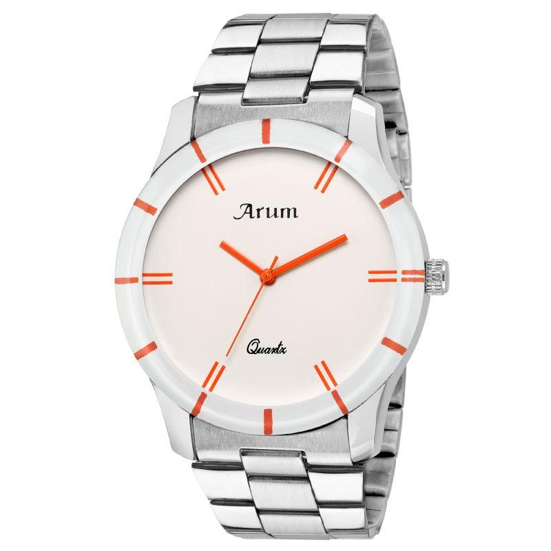 Buy Arum Stylish Silver Trendy Watch online