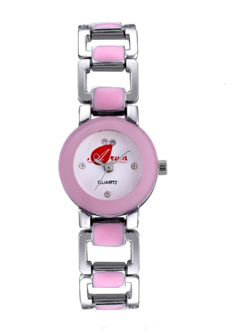 Buy Arum Pink Square Watch For Girls Online | Best Prices in India ...