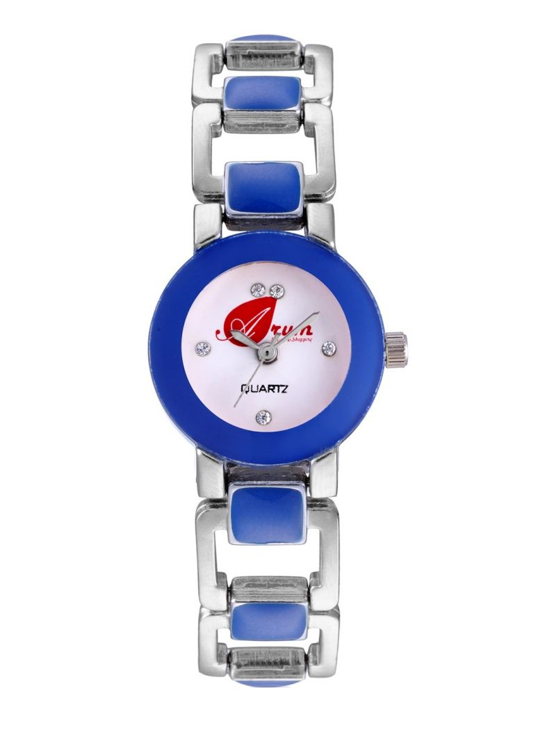 Buy Arum Blue Square Watch For Girls online