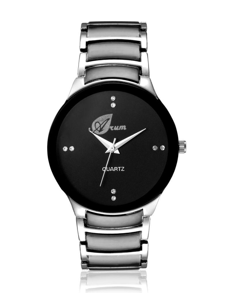 Buy Arum Stylish Black Cat Watch For Men online