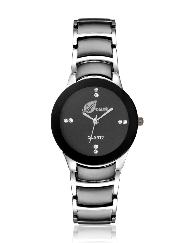 Buy Arum Stylish Black Cat Watch For Ladies online