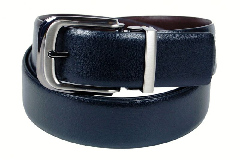 Buy PE Mens Genuine Leather Black Waist Belt online