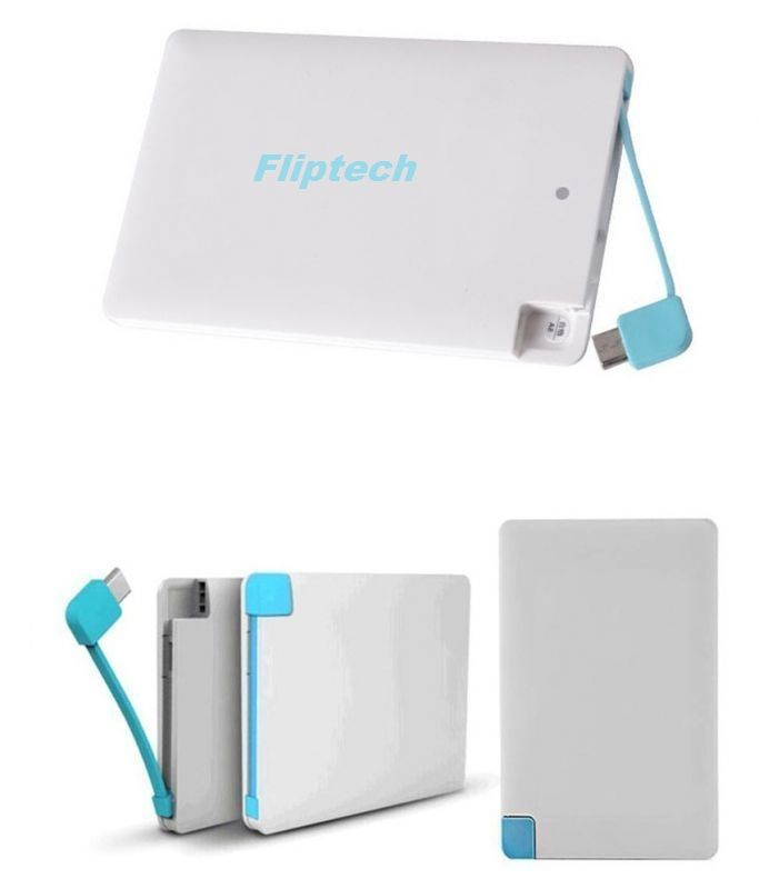 Buy Fliptech Original 2500mAh Credit Card Slim Powerbank online