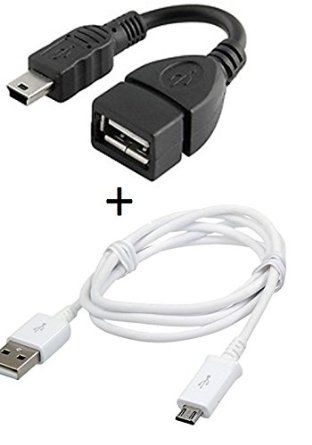 Buy Fliptech Fast Charging Data Cable With Otg Cable For Samsung I9070 Galaxy S Advance / I9100 Galaxy S2 S 2 S-2 online