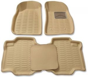Buy Mp-beige Colour-3d Car Floor Mats Perfect Fit For Tata Indica V2 online