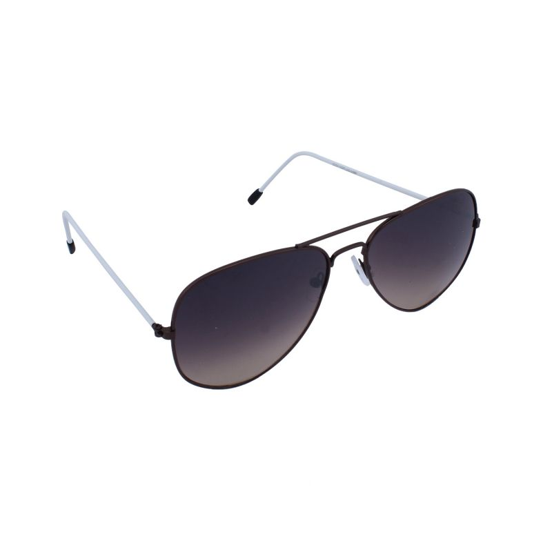 Buy Blue-tuff Aviator Sunglasses Brown/white Frame With Brown Mirror online