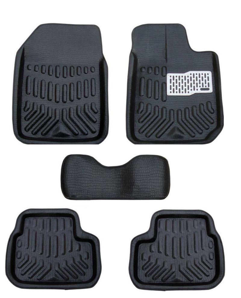 Buy MP Premium Quality Car 4d Croc Textured Floor Mat Black-skoda Rapid online