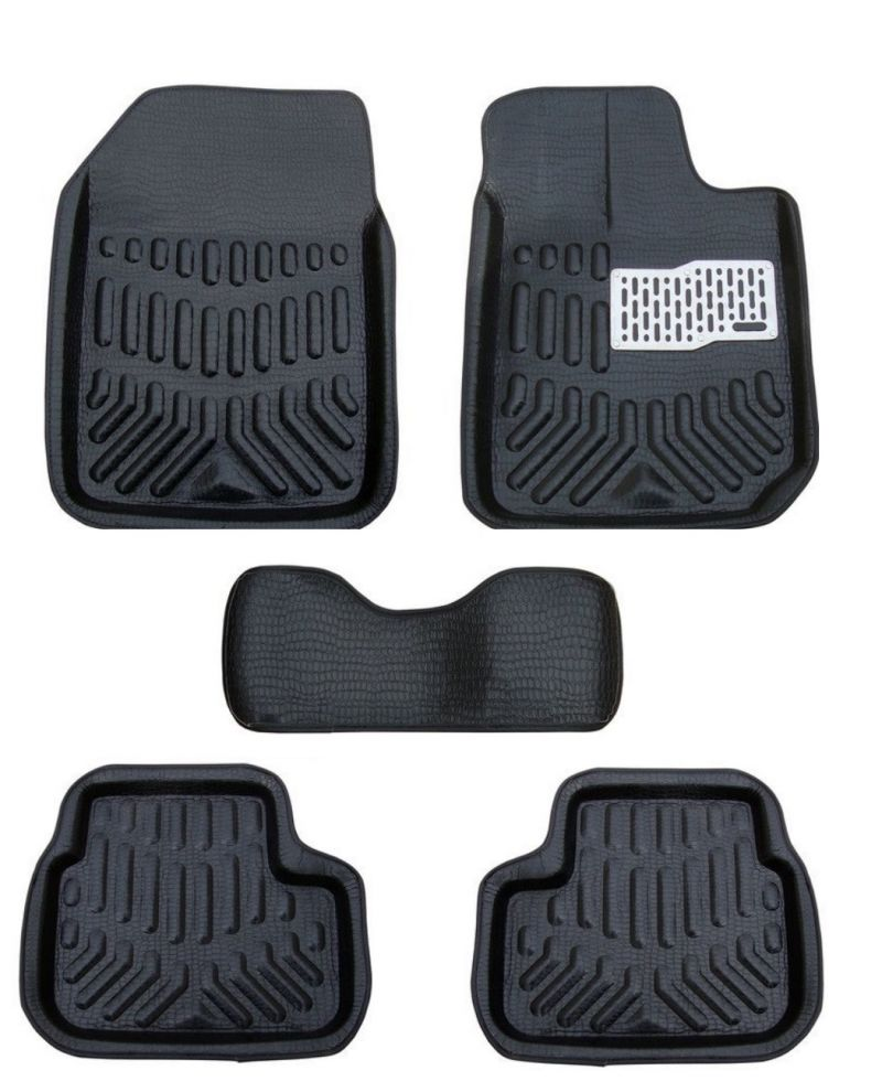 Buy MP Premium Quality Car 4d Croc Textured Floor Mat Black-toyota Etios online