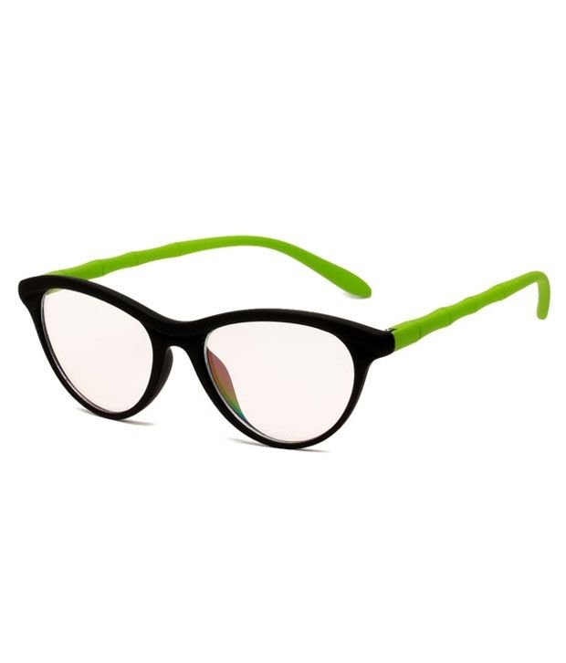 Buy Blue-tuff Girls Antiglare Cateye Frame Full - Black-green online
