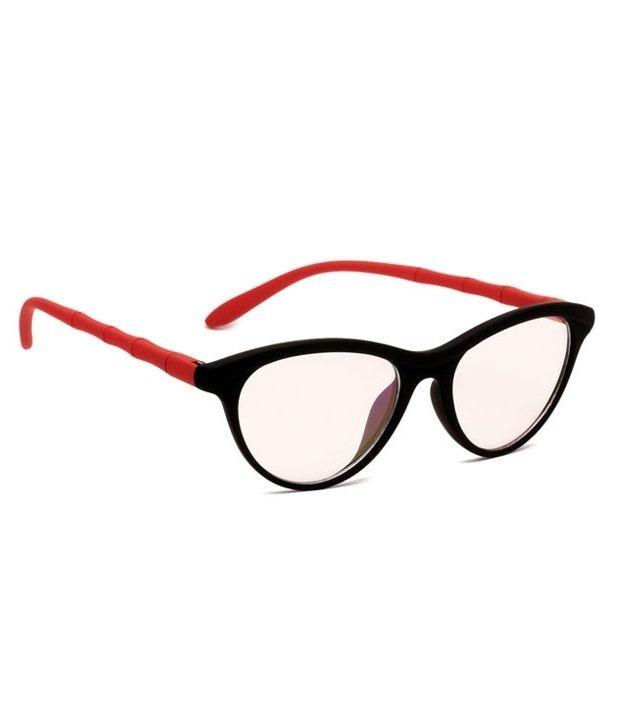 Buy Blue-tuff Girls Antiglare Cateye Frame Black-red online