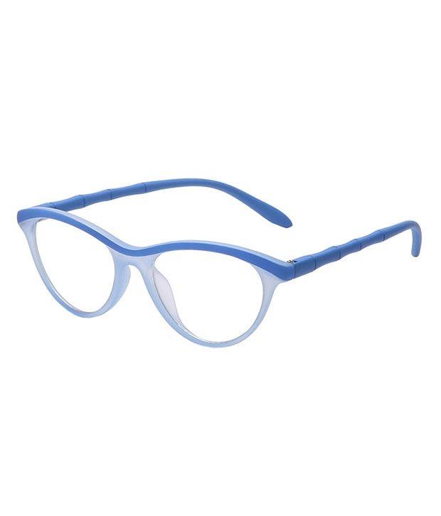 Buy Blue-tuff Girls Antiglare Cateye Frame Full-blue online