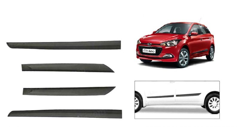 Buy MP Car Original Side Beading Matt Black - Hyundai I-20 Elite/active online