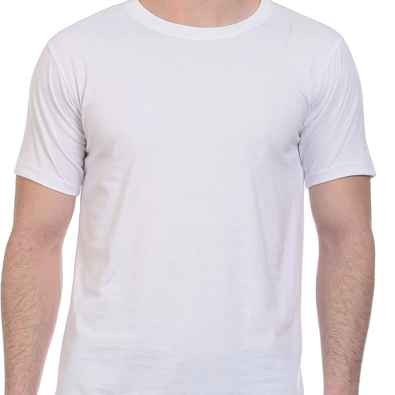 Our men's round neck plain white t-shirt comes in regular fit with a multitude of sizes. Our t-shirts are % cotton, double stitched and bio washed to ensure the best quality white t-shirt at an affordable price. Buy yours today.