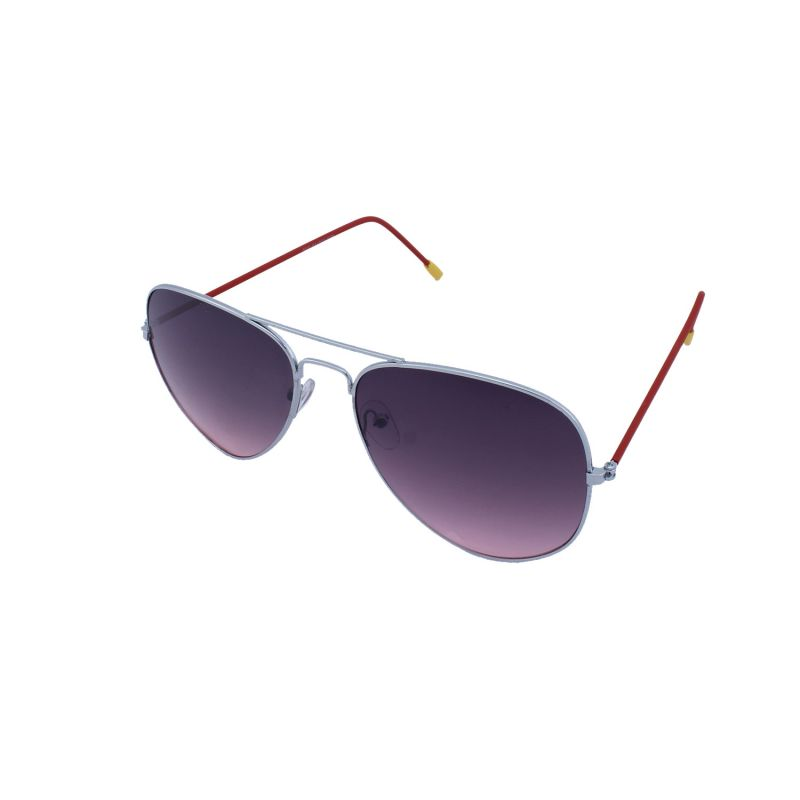 Buy Blue-tuff Aviator Sunglasses Silver/red Frame With Red Mirror ...