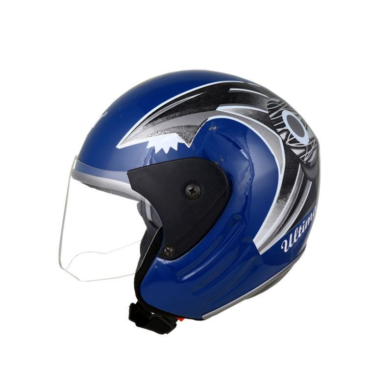 Buy MP Open Face Motorcycle Scooter Scooty Blue Helmet online