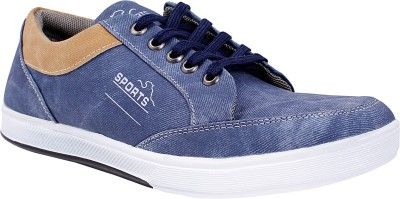 Buy Semana Blue Canvas Casual Shoes online
