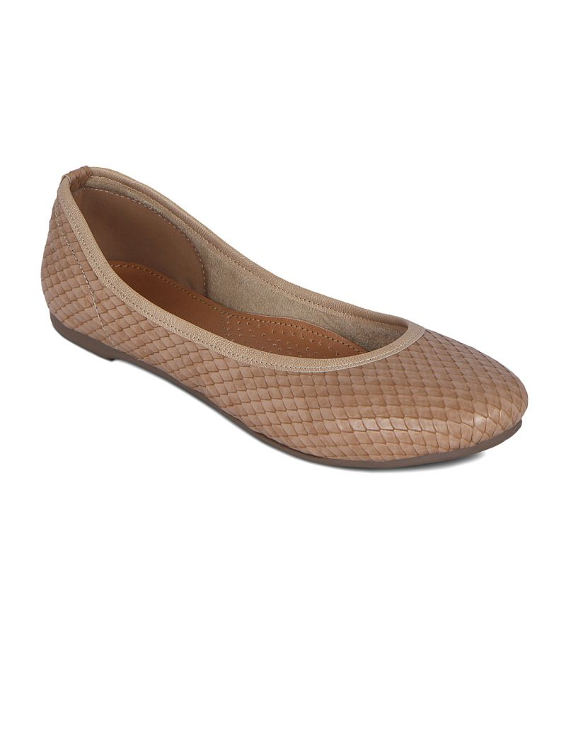Buy Flora Beige Synthetic Leather Casual NA For Women online