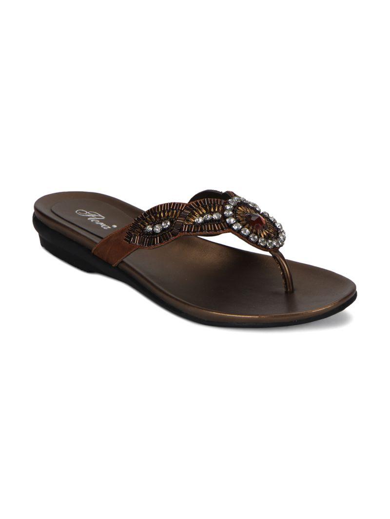 Buy Flora Copper Flat Comfort Womens Sandal - Fr-7362-23 online