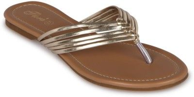 Buy Flora Gold Synthetic Leather Flat Slip-on For Women - (product Code - Pf-0103-31) online
