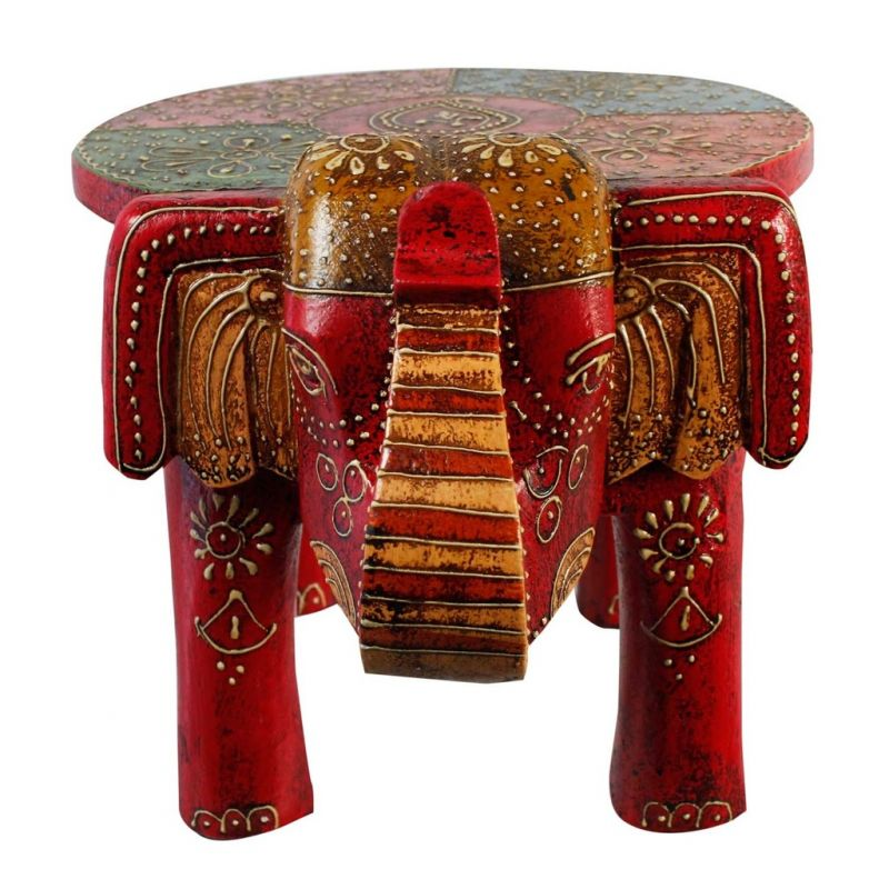 Pleasant Designer Wooden Elephant Stool Handicraft Gift Onthecornerstone Fun Painted Chair Ideas Images Onthecornerstoneorg