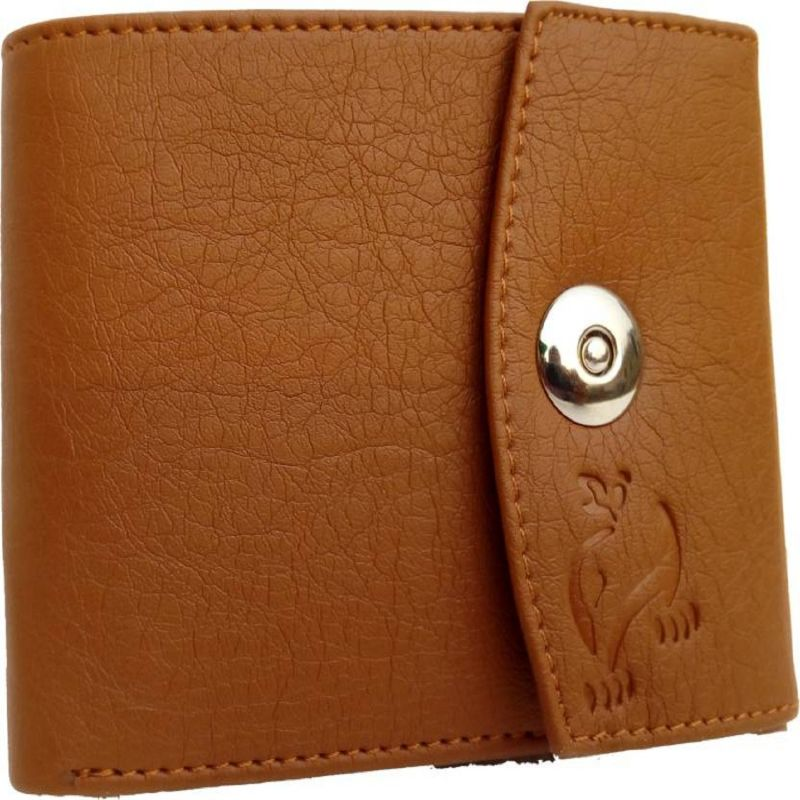 369afd85c7f5a Buy White Bear Men Tan Artificial Leather Magnetic Money Clip Wallet ...