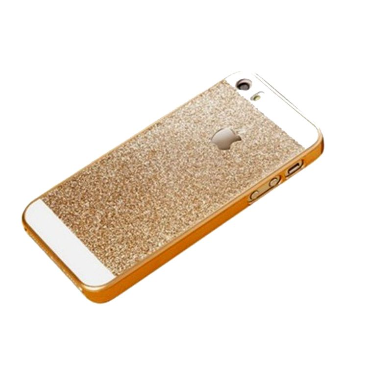 premium selection 0d669 61227 Ddf Hard Glitter Back Cover Case For iPhone 5,5s - Gold