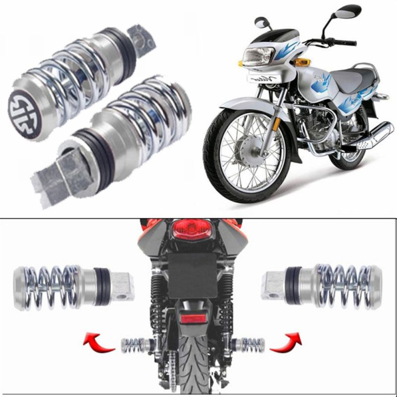 Buy Capeshoppers Spring Coil Style Bike Foot Pegs Set Of 2 For Tvs