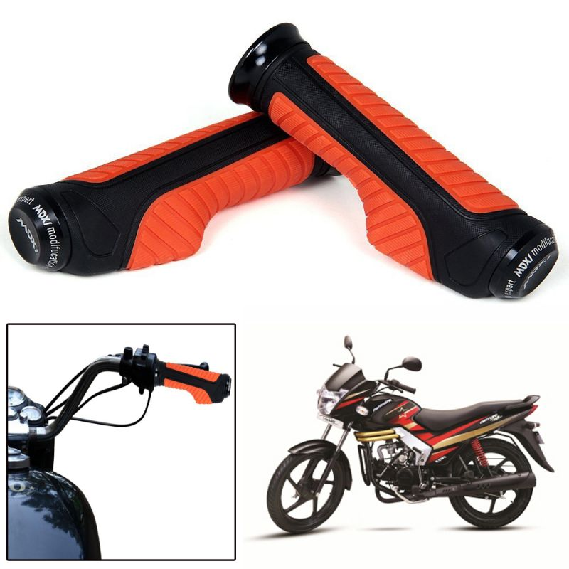Buy Capeshoppers Orange Bike Handle Grip For Mahindra Centuro