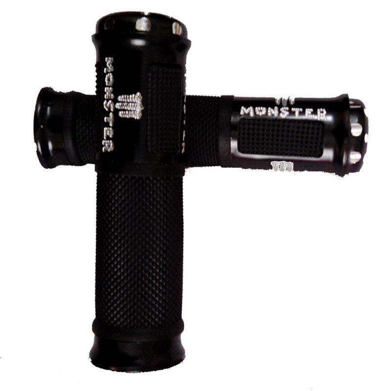 Buy Capeshoppers Monster Designer Black Bike Handle Grip For Bajaj Kb 4-s online