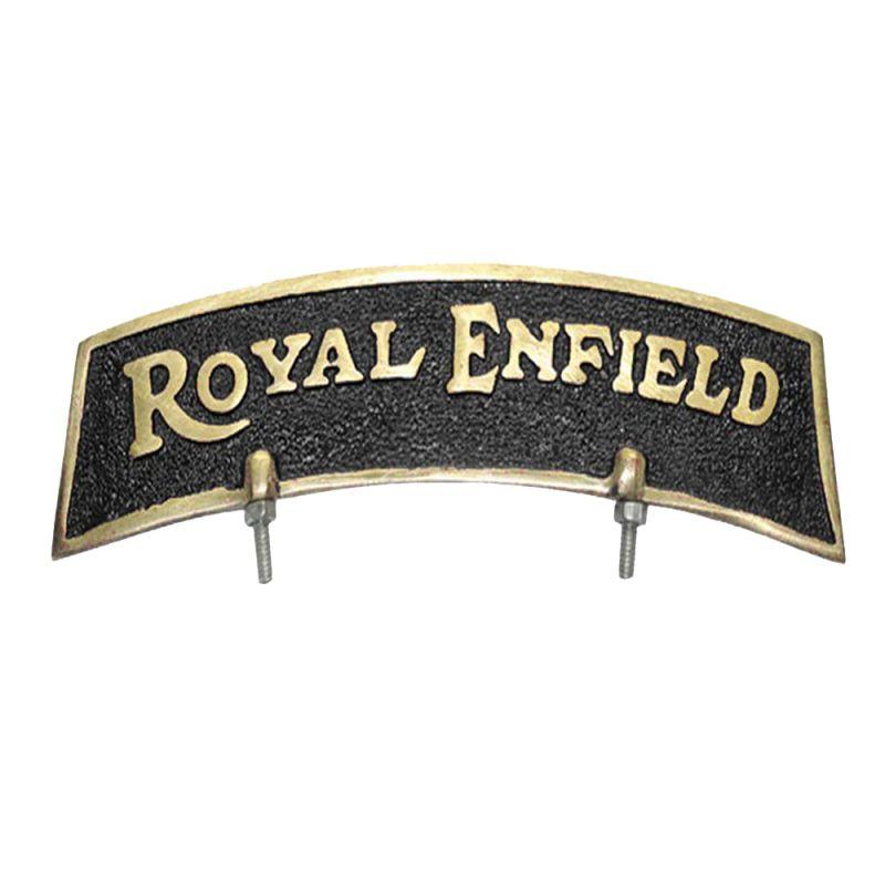 Buy Capeshoppers Brass Mudguard Logo For Royal Thunderbird 500 online