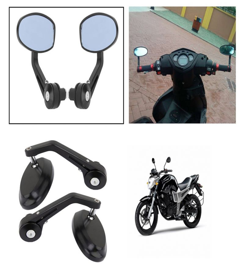 Buy Capeshoppers Bike Handle Bar End Rotatable Rear View Mirror
