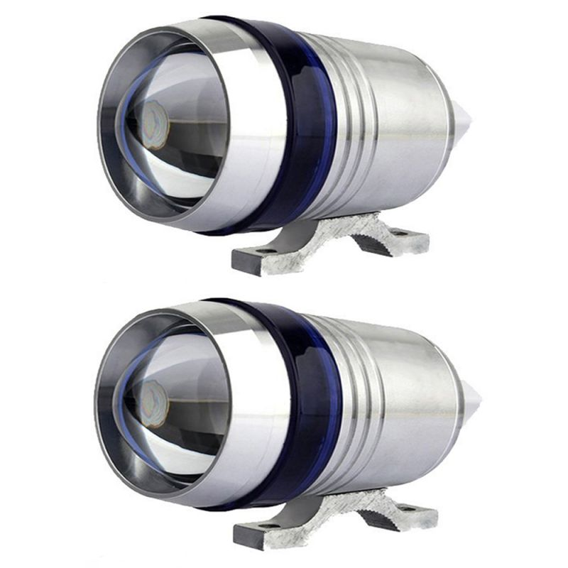Buy Capeshoppers U3 Headlight Fog Lamp With Lens Cree LED For Royal Bullet 500 online