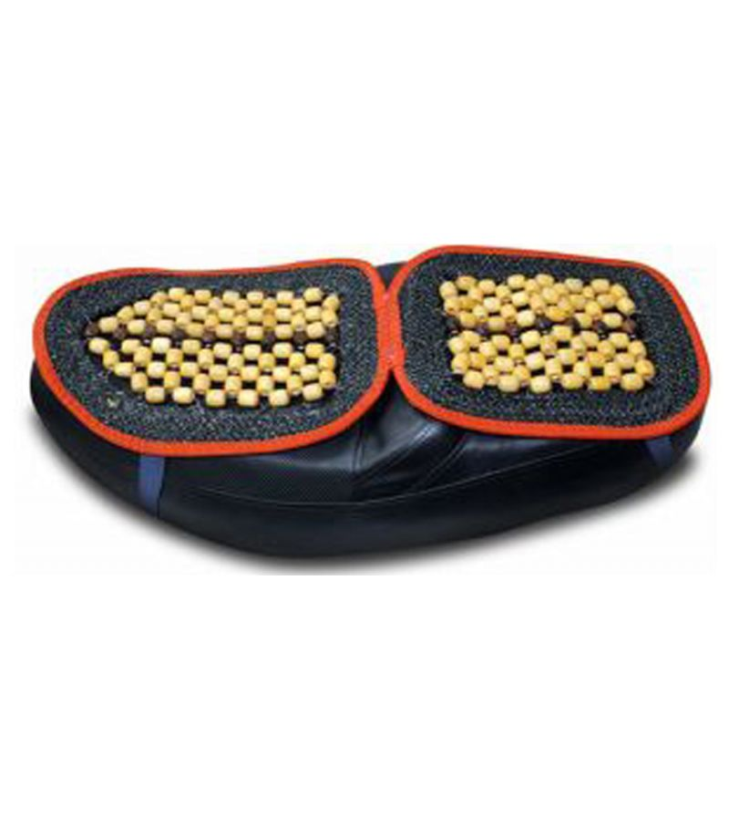 Buy Capeshoppers Wooden Bead Seat Cover For Hero Motocorp Hunk Single Disc online