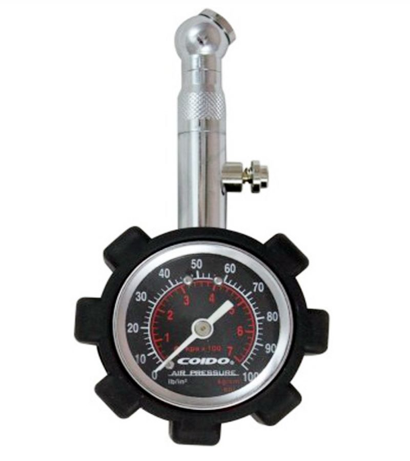 Buy Capeshoppers Coido Metallic Pressure Guage With Analog Meter For Hero Motocorp Ss/cd online