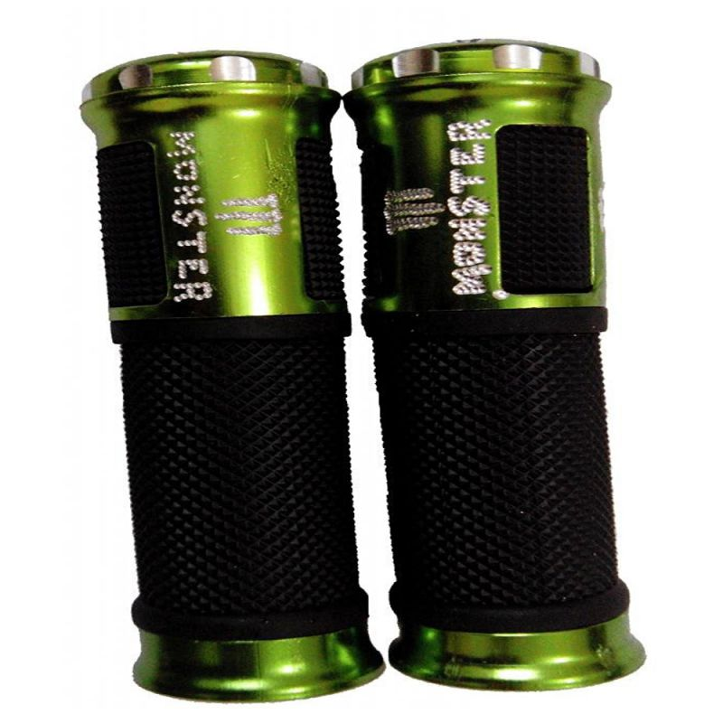 Buy Capeshoppers Monster Designer Green Bike Handle Grip For Tvs Phoenix 125 online