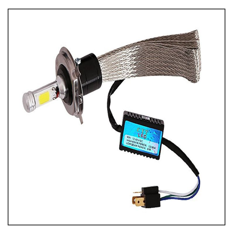 Buy Capeshoppers Peacock Design High Power Cob LED Headlight For Tvs Pep+ Scooty online
