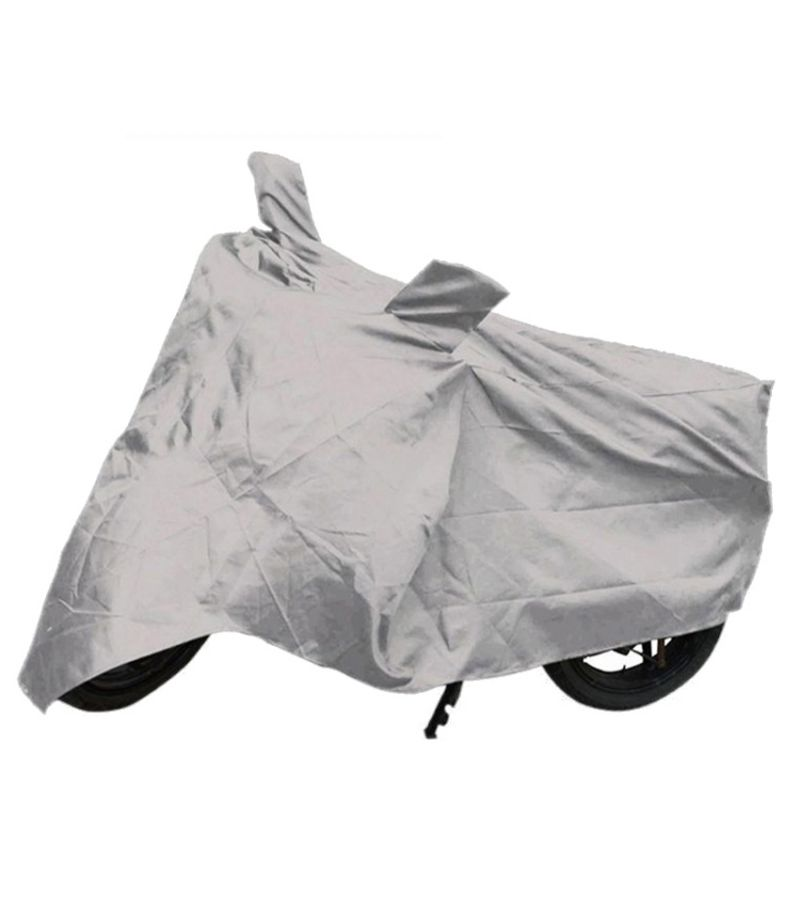 Buy Capeshoppers Bike Body Cover Silver For Tvs Victor Gx 100 online