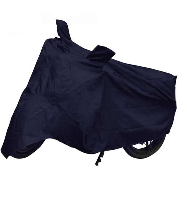 Buy Capeshoppers Bike Body Cover Blue For Yamaha Ybr 110 online