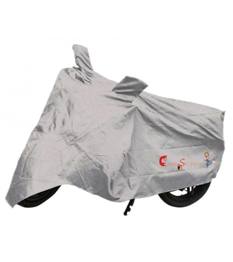 Buy Capeshoppers New Advance Bike Body Cover Silver For Suzuki Hayate online