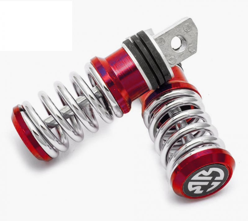 Buy Capeshoppers Spring Coil Style Bike Foot Pegs Set Of 2 For Bajaj Pulsar 220 Dtsi-red online