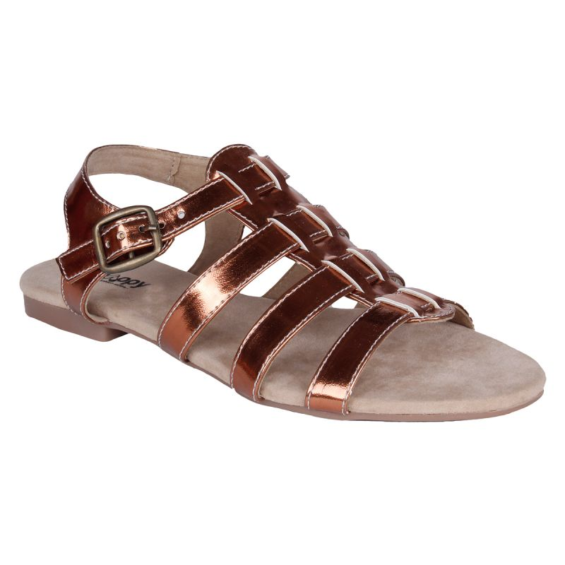 Buy Mappy Brown Flat Sandal For Women online