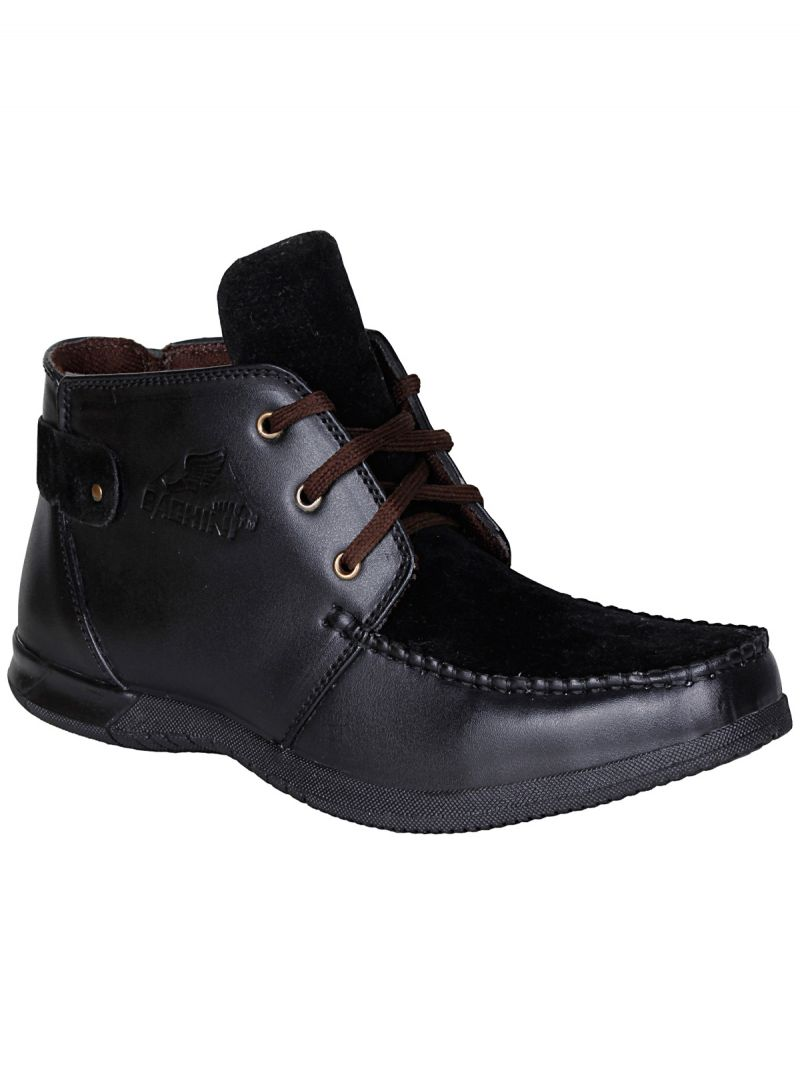 Buy Bachini Black Half Ankle Boot For Mens (product Code - 1542-black) online