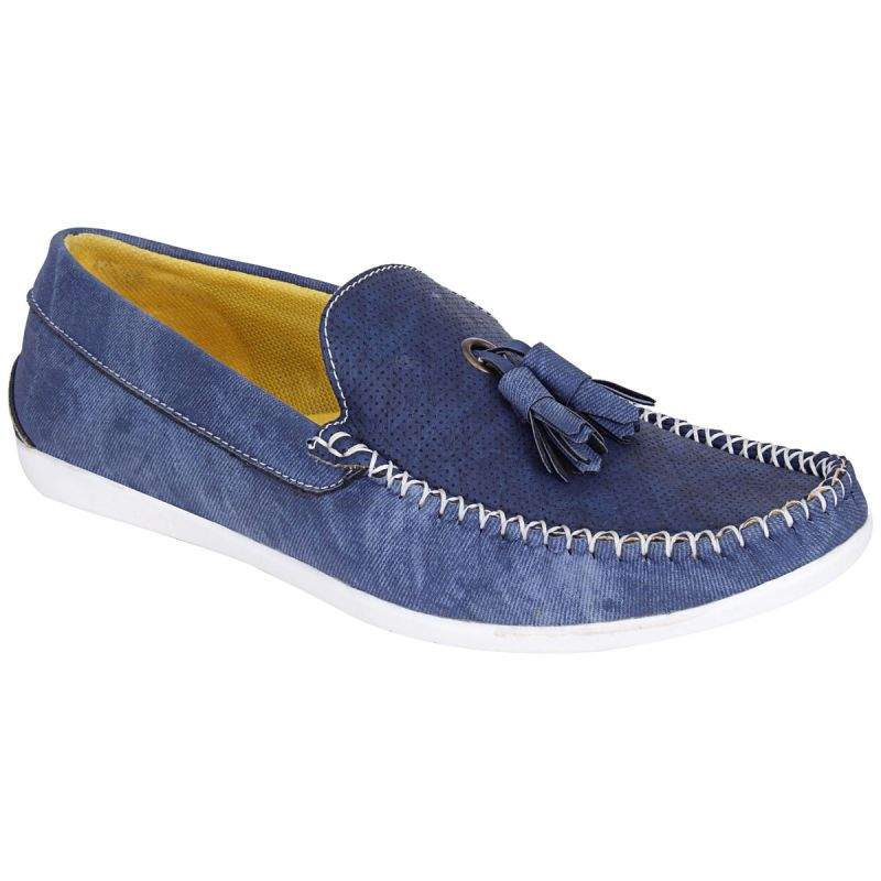 Buy Bachini Blue Loafers For Mens (product Code - 1590-blue) online
