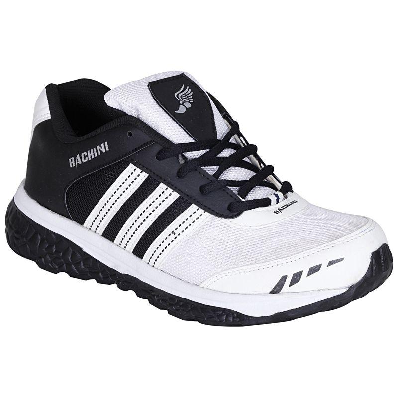 Buy Bachini White Black Sport Shoes For Men (product Code - 1604-white Black) online