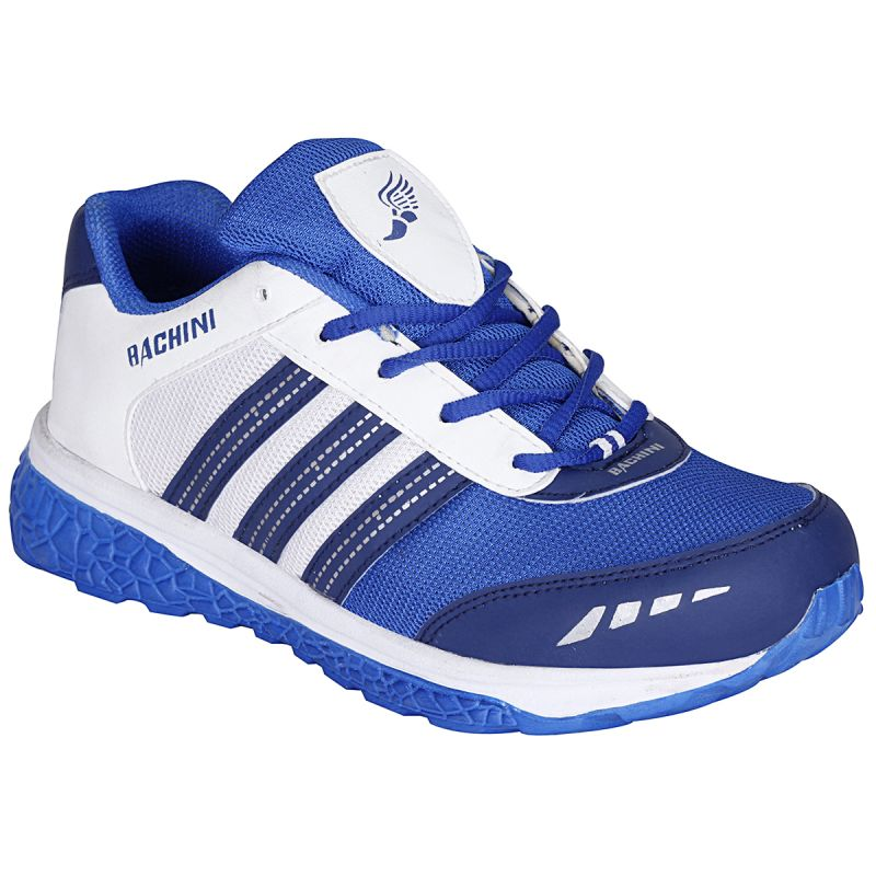 Buy Bachini White Blue Sport Shoes For Men (product Code - 1604-white Blue) online