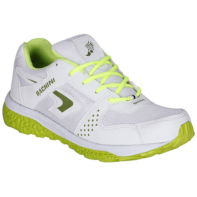 Buy Bachini White Green Sport Shoes For Men (product Code - 1606-white Green) online