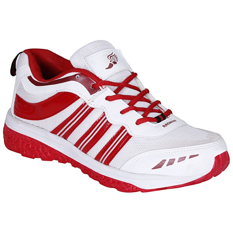 Buy Bachini White Red Sport Shoes For Men (product Code - 1607-white Red) online