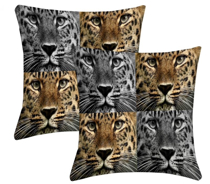 Buy Lushomes Digital Print Animal Cushion Covers (pack Of 2) online