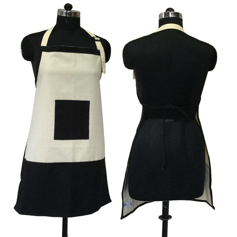Buy Lushomes Cotton Pirate Black And Ecru Bi-color Apron_coapb1008 online
