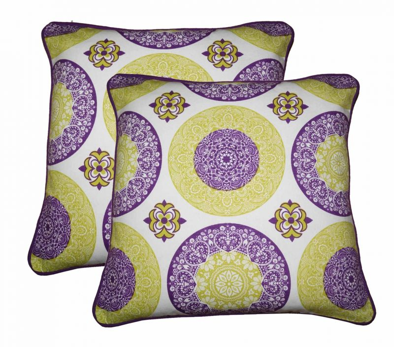Buy Lushomes Bold Print Cotton Cushion Covers Pack of 2 online